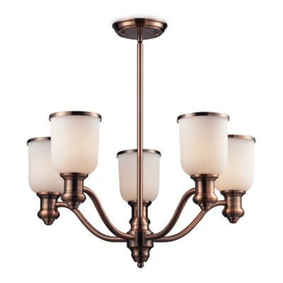 Elk Lighting Brooksdale 5-Light Chandelier in Antique Copper