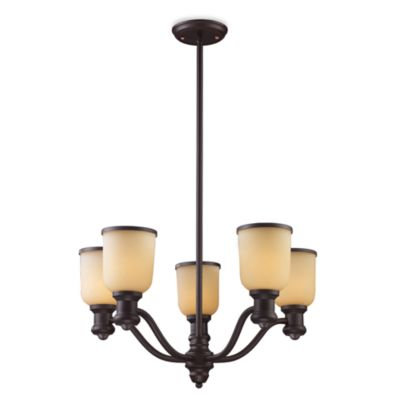 Elk Lighting Brooksdale 5-Light Chandelier in Oiled Bronze