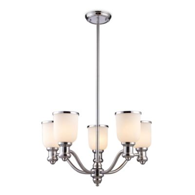 Elk Lighting Brooksdale 5-Light Chandelier in Polished Chrome