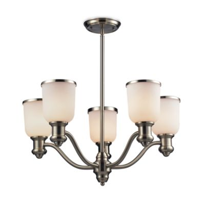 Elk Lighting Brooksdale 5-Light Chandelier in Satin Nickel