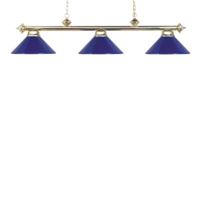 ELK Lighting Casual Traditions 3-Light Island/Billard Pendant in Polished Brass/Blue