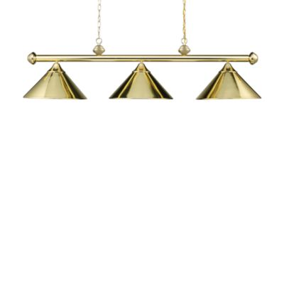 Elk Lighting Casual Traditions 3-Light Island/Billard Pendant in Polished Brass