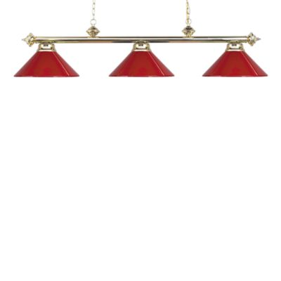 Elk Lighting Casual Traditions 3-Light Island/Billard Pendant in Polished Brass/Red