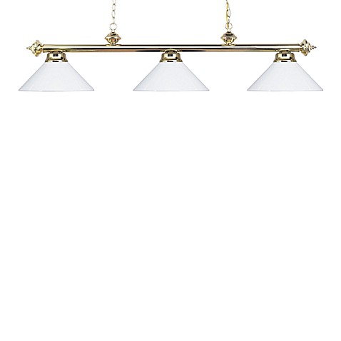 ELK Lighting Casual Traditions 3-Light Island/Billard Pendant in Polished Brass/White