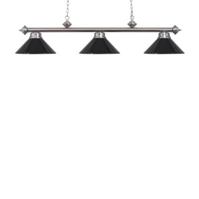Elk Lighting Casual Traditions 3-Light Island/Billard Pendant in Satin Nickel/Black