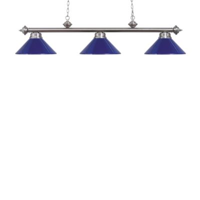 Elk Lighting Casual Traditions 3-Light Island/Billard Pendant in Satin Nickel/Blue