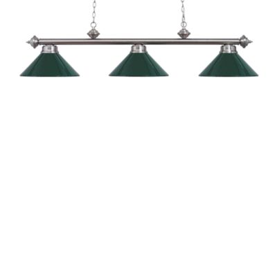 Elk Lighting Casual Traditions 3-Light Island/Billard Pendant in Satin Nickel/Green