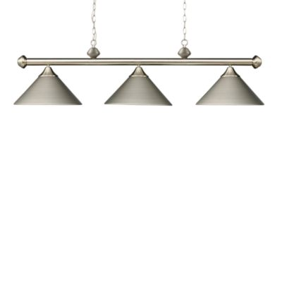 Elk Lighting Casual Traditions 3-Light Island/Billard Pendant in Satin Nickel