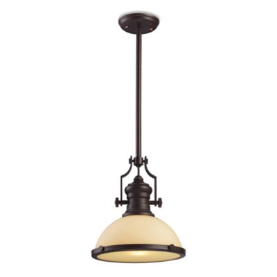 Elk Lighting Chadwick 1-Light Pendant in Oiled Bronze