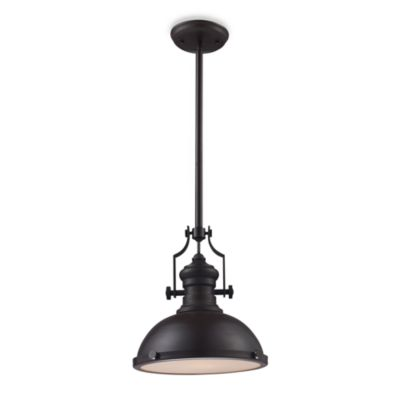 Elk Lighting Chadwick 1-Light Pendant Ceiling Lamp in Oiled Bronze