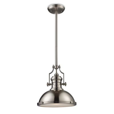 Elk Lighting Chadwick 1-Light Pendant in Satin Nickel
