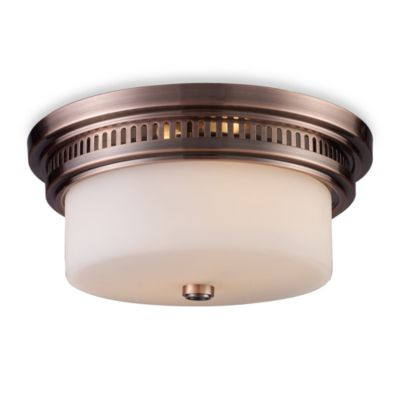 ELK Lighting Chadwick 2-Light Flush Mount in Antique Copper