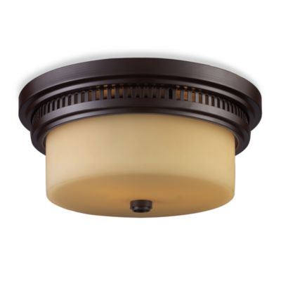 Elk Lighting Chadwick 2-Light Flush Mount in Oiled Bronze
