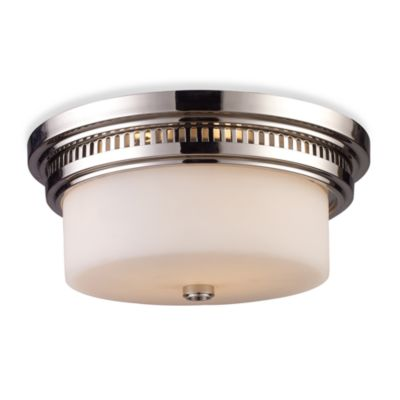 ELK Lighting Chadwick 2-Light Flush Mount in Polished Nickel