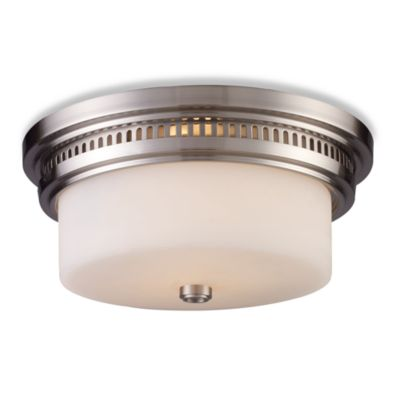 Elk Lighting Chadwick 2-Light Flush Mount in Satin Nickel