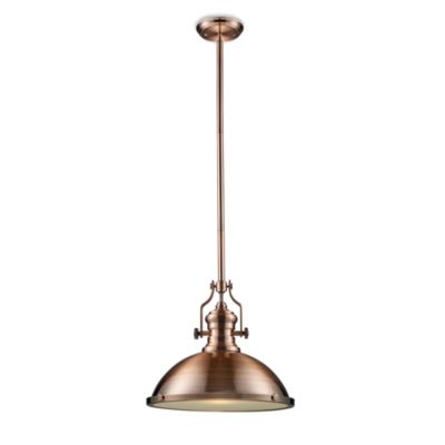 Elk Lighting Chadwick 1-Light Pendant in Antique Copper