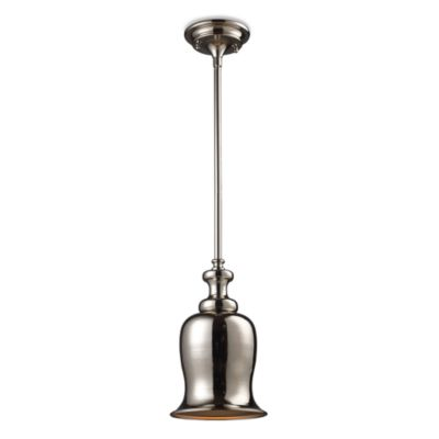 Elk Lighting Chadwick 1-Light Pendant in Polished Nickel