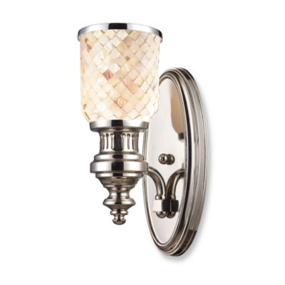 Elk Lighting Chadwick 1-Light Sconce in Polished Nickel