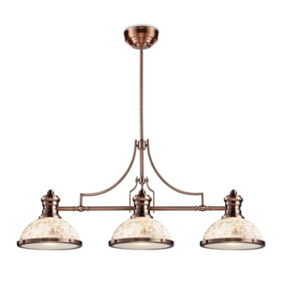 Elk Lighting Chadwick 3-Light Island/Billiard Chandelier in Antique Copper