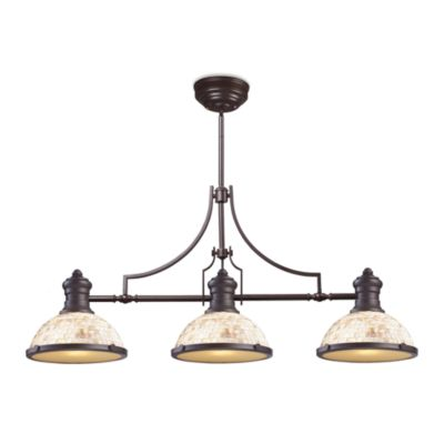 Elk Lighting Chadwick 3-Light Island/Billiard Chandelier in Oiled Bronze