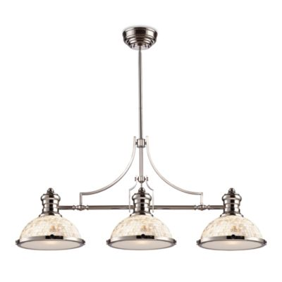 Elk Lighting Chadwick 3-Light Island/Billiard Chandelier in Polished Nickel