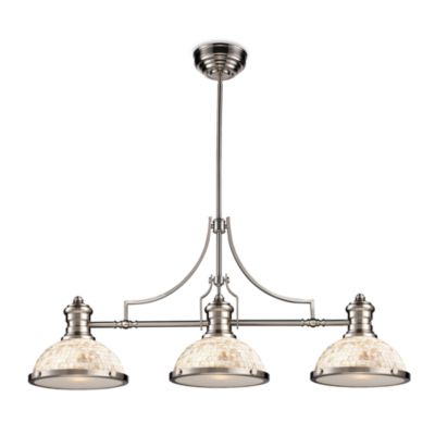 Elk Lighting Chadwick 3-Light Island/Billiard Chandelier in Satin Nickel