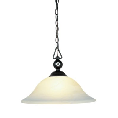 ELK Lighting Designer Classics 1-Light Billiard/Island in Matte Black with a White Shade