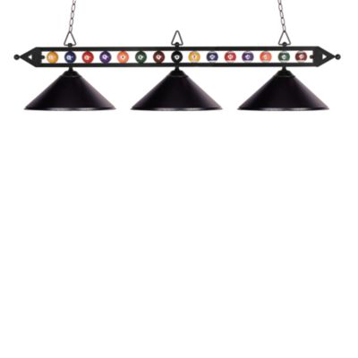 ELK Lighting Designer Classics 3-Light Billiard/Island Fixture in Matte Black