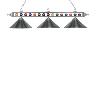 ELK Lighting Designer Classics 3-Light Billiard/Island Fixture in Satin Nickel