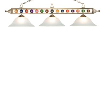 ELK Lighting Designer Classics 3-Light Billiard/Island Fixture in Satin Nickel/Alabaster