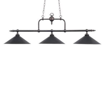 Elk Lighting Designer Classics 3-Light Billiard/Island Fixture in Tiffany Bronze/Metal