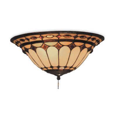 Elk Lighting Diamond Ring 2-Light Fan Kit and Ceiling Mount in Burnished Copper