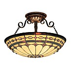 ELK Lighting Diamond Ring 3-Light Semi-Flush Fixture in Burnished Copper