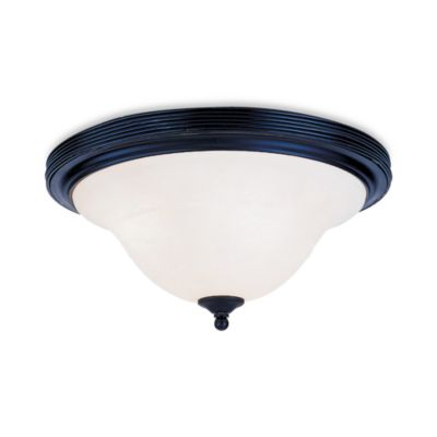 Elk Lighting Buckingham 2-Light Flush Mount in Matte Black