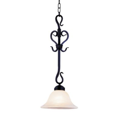 ELK Lighting Buckingham 1-Light Pendant in Matte Black