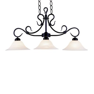 Elk Lighting 3-Light Island/Billiard Light in Matte Black