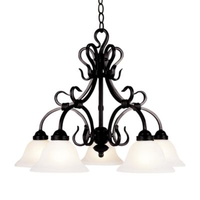 Elk Lighting Buckingham 5-Light Chandelier in Matte Black
