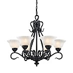 Elk Lighting Buckingham 6-Light Chandelier in Matte Black