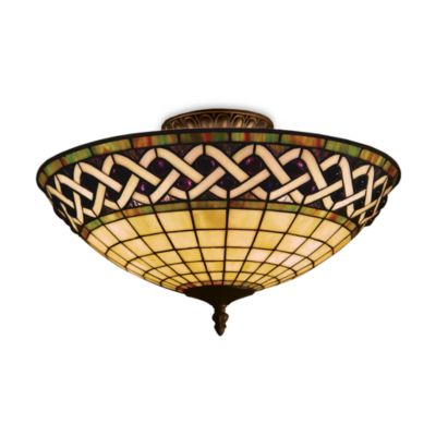 Elk Lighting Angel Wing 3-Light Semi-Flush in Classic Bronze