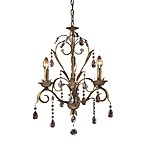 ELK Lighting Angelite 3-Light Chandelier in Weathered Silver