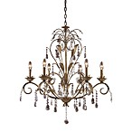 Elk Lighting Angelite 6-Light Chandelier in Weathered Silver