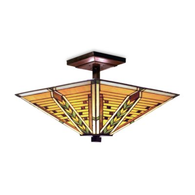 Elk Lighting Arrowhead 3-Light Semi-Flush in Tiffany Bronze