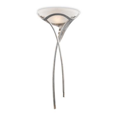 Elk Lighting Aurora 1-Light Sconce in Tarnished Silver With White Faux