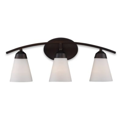ELK Lighting Tempest 8-Inch x 25-Inch 3-Light Vanity in Aged Bronze