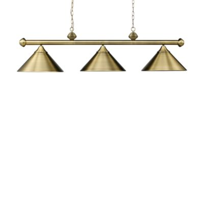 Elk Lighting Casual Traditions 3-Light Island/Billard Pendant in Antique Brass