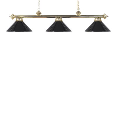 Elk Lighting Casual Traditions 3-Light Island/Billard Pendant in Polished Brass/Black