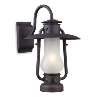 Elk Lighting Chapman 1-Light Sconce in Matte Black