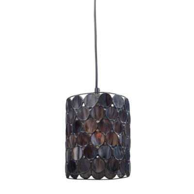 ELK Lighting Cirque 1-Light Pendant in Matte Black