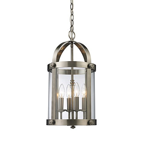 Landmark Lighting Chesapeake 4-Light Lantern in Satin Nickel