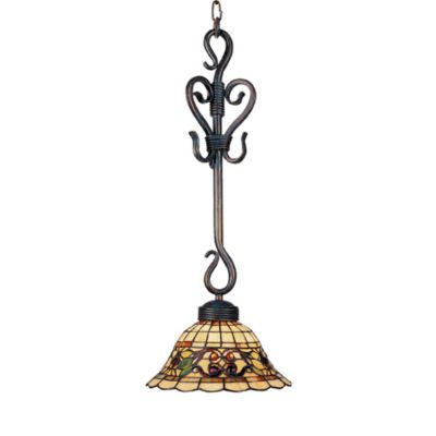 Elk Lighting Buckingham Tiffany 25-Inch 1-Light Pendant in Vintage Antique